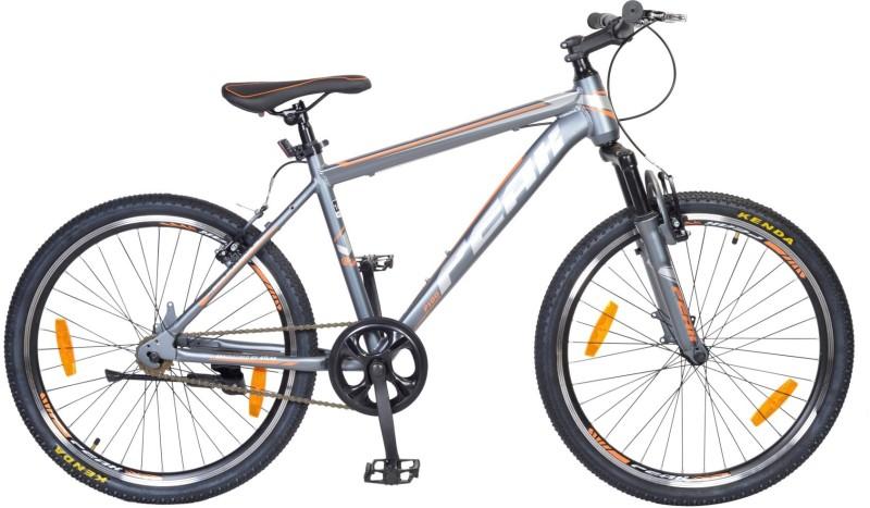 Atlas Peak P100 Bike For Teenagers Grey&Orange 24 T Single Speed Mountain Cycle(Grey)