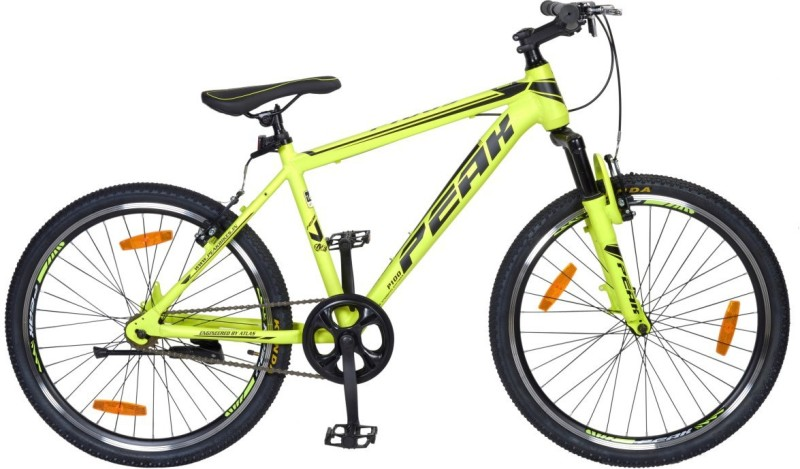 Atlas P100 Bike For Adults Green&Black 24 T Single Speed Mountain/Hardtail Cycle(Grey)