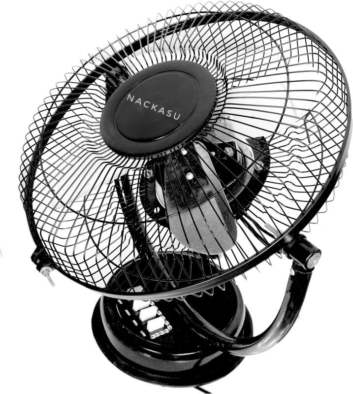 Nackasu Breeze 4 Blade wall fan and 4 Blade Table Fan(Black)