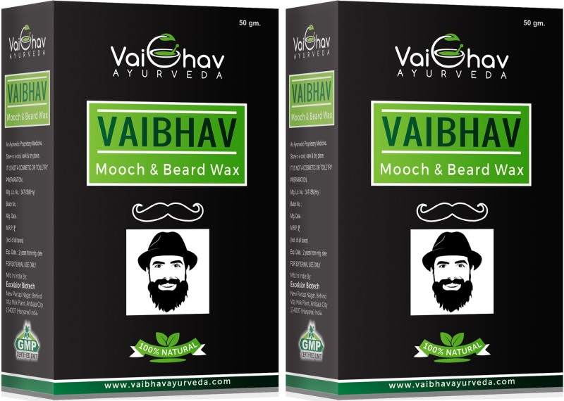 Vaibhav HERBAL MOOCH & BEARD STYLING WAX Hair Wax(100 g)