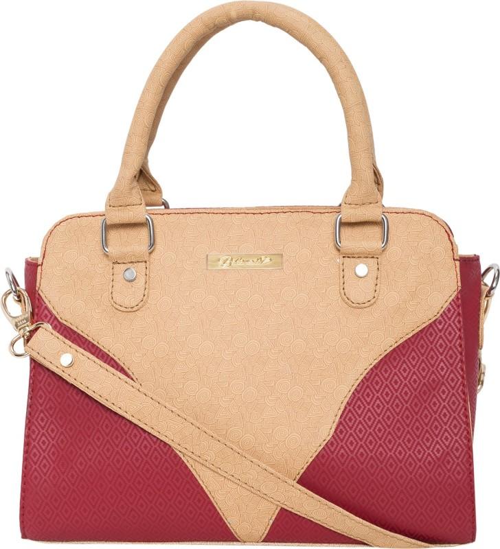 Beloved Women Maroon, Beige Hand-held Bag