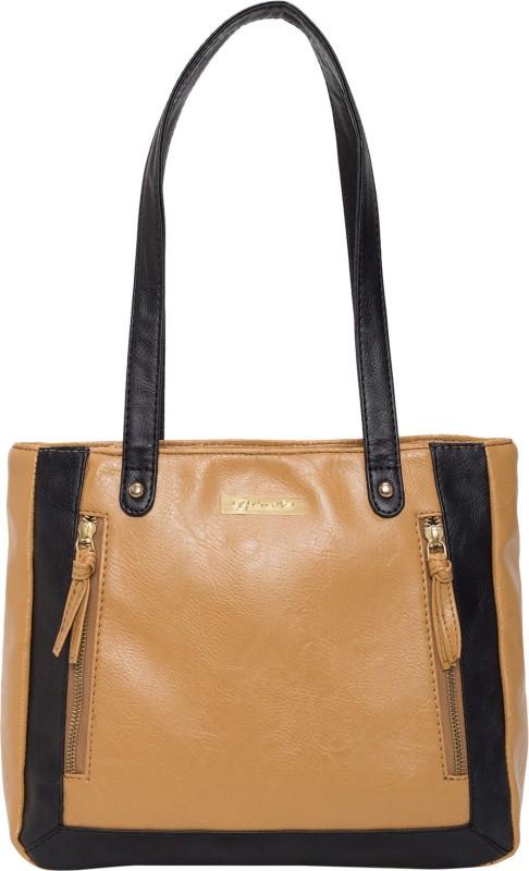 Beloved Women Tan, Black Shoulder Bag