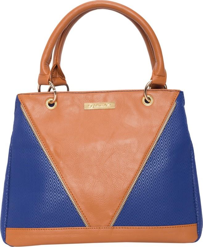 Beloved Women Tan, Blue Hand-held Bag