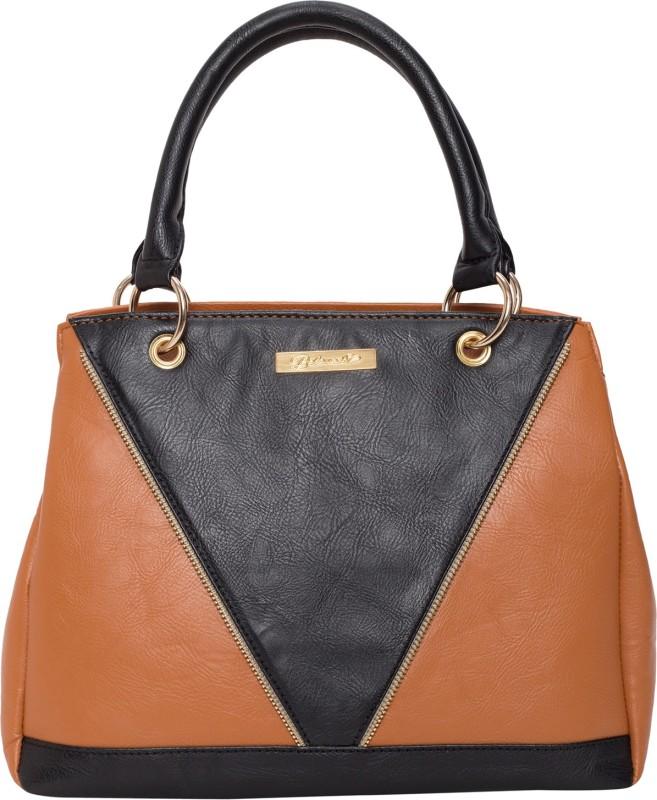 Beloved Women Tan, Black Hand-held Bag