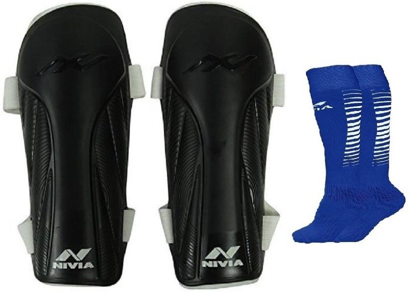 Nivia Combo of two- One Pair of Vortex shin guard (Medium) and One Pair of Encounter Socks- Football Kit