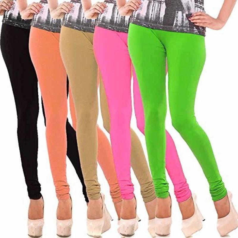 Elegant Shopping Churidar  Legging(Multicolor, Solid)