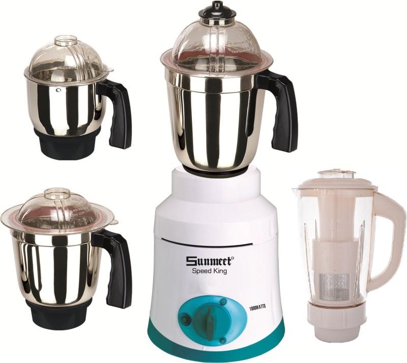 Sunmeet SunmeetSpeedKing100W4Jar 1000 Juicer Mixer Grinder(White, 4 Jars)