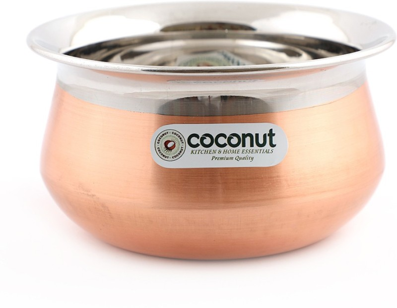 Coconut Stainless Steel & Copper Celebration Handi 0.25 L(Stainless Steel, Copper)