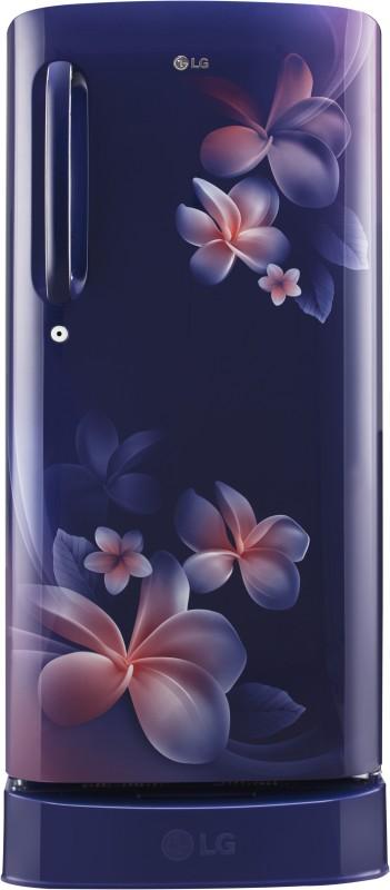 LG 190 L Direct Cool Single Door 4 Star Refrigerator(Blue Plumeria, GL-D201ABPX)