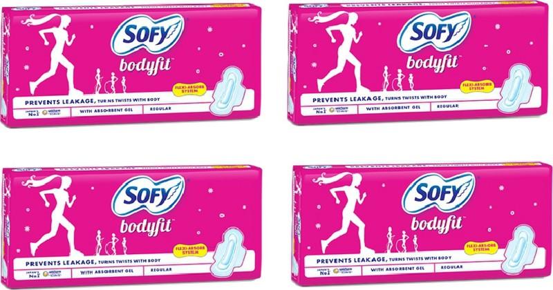 Sofy Body fit Regular 8 pad Sanitary Pad(Pack of 4)
