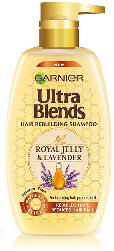 Garnier New Ultra Blends Royal Jelly & Lavender, Anti Hairfall Shampoo(640 ml)