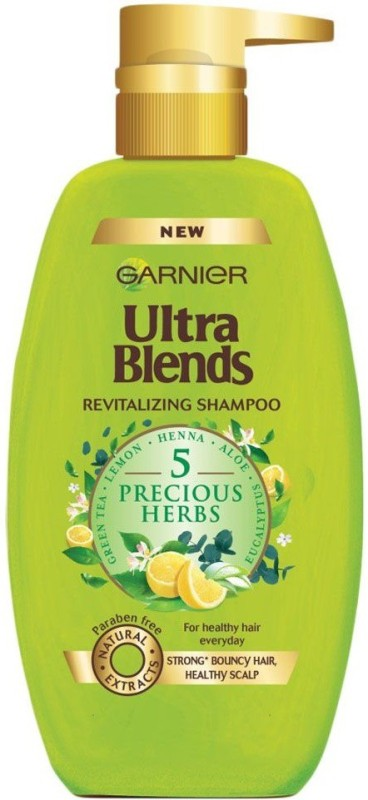 Garnier New Ultra Blends 5 Precious Herbs, De-Tox Shampoo(640 ml)