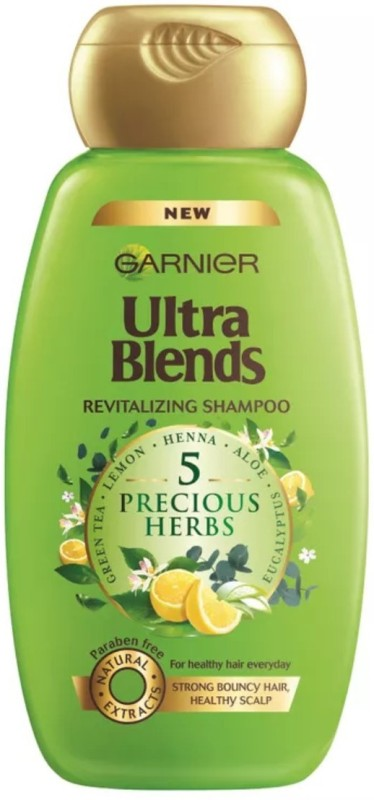 Garnier New Ultra Blends 5 Precious Herbs, De-Tox Shampoo(340 ml)