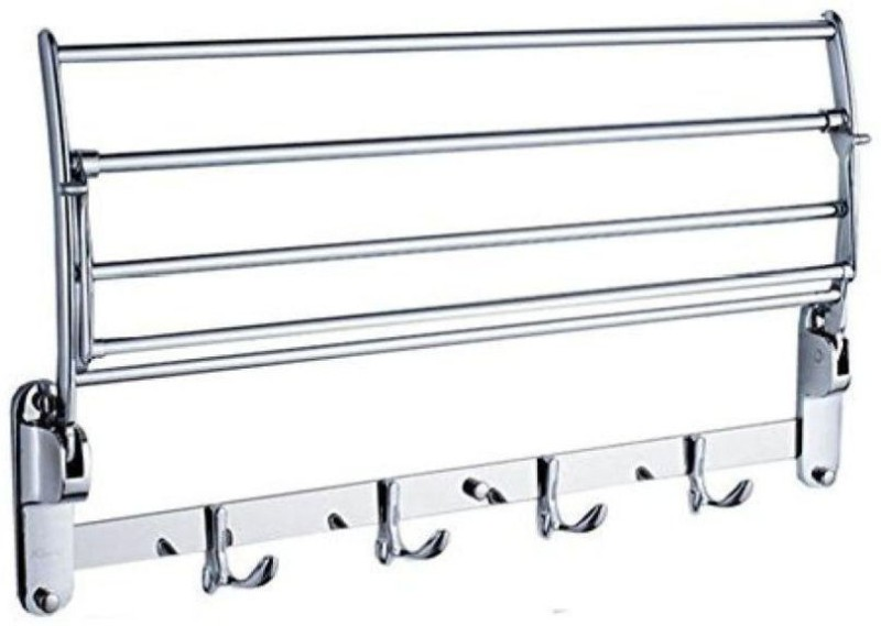 A to Z Hub Chrome Shower Rod Hook(Silver)
