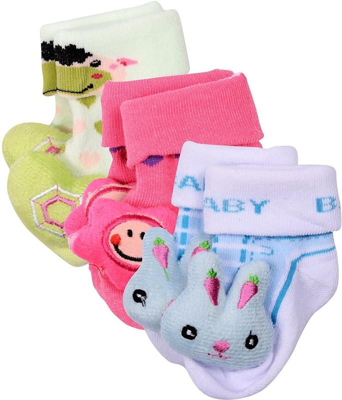 A Little Swag Baby Boys & Baby Girls Printed Quarter Length Socks(Pack of 3)