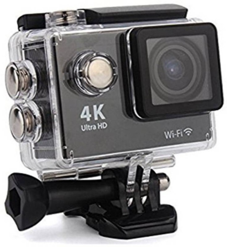 Gentle E Kart Powershot 4K Ultra HD 12 MP WiFi Waterproof Digital Sports and Action Camera(Black 12 MP)