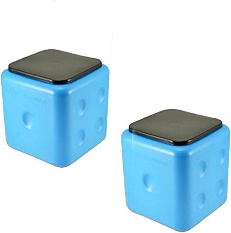 SARANGWARE Dice Stool Living & Bedroom Stool Stool(Blue)