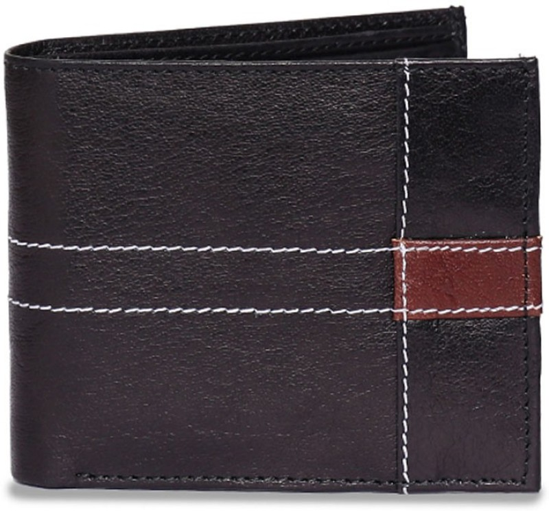 Chisel Men Black Genuine Leather Wallet(4 Card Slots)