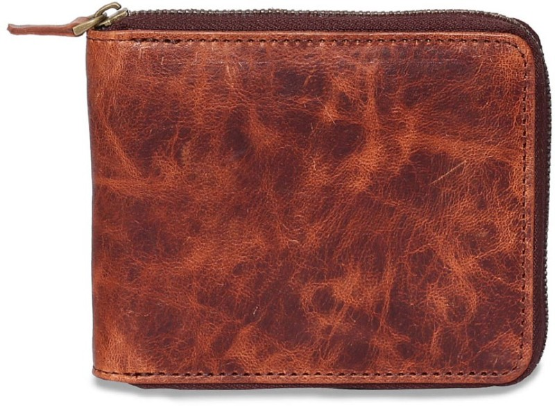 Chisel Men Brown Genuine Leather Wallet(3 Card Slots)