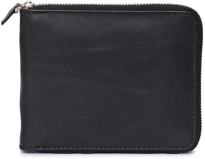 Chisel Men Black Genuine Leather Wallet(3 Card Slots)
