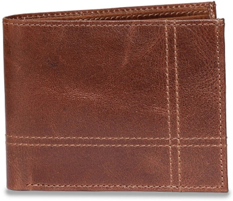 Chisel Men Brown Genuine Leather Wallet(5 Card Slots)