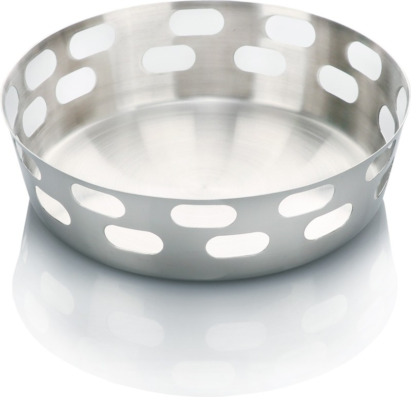 Urban Snackers Stainless Steel Bread Basket(Steel)