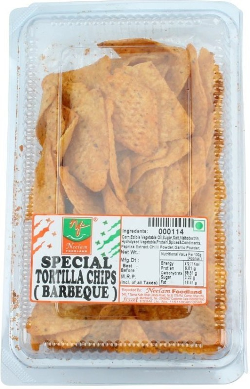 Neelam Foodland TORTILLA CHIPS BARBEQUE Chips(240 g)