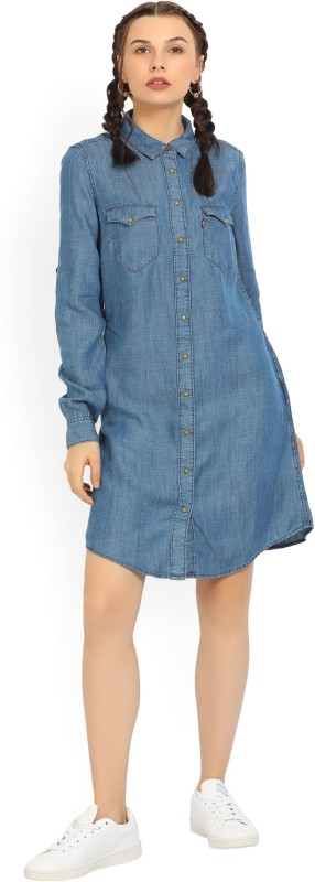 Levis Womens Shirt Blue Dress