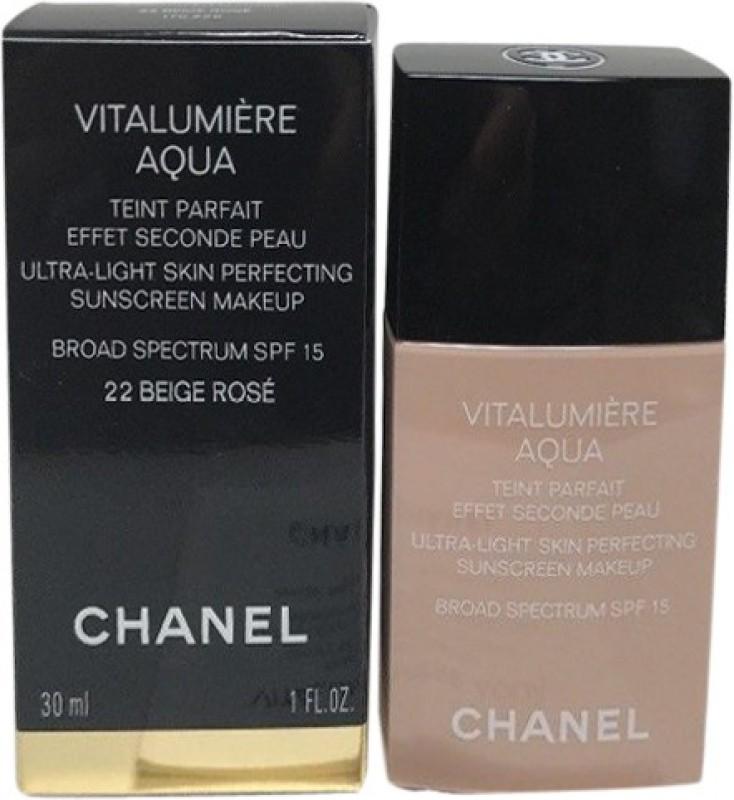 Chanel Vitalumiere Aqua Foundation(22 Beige Rose, 30 ml)