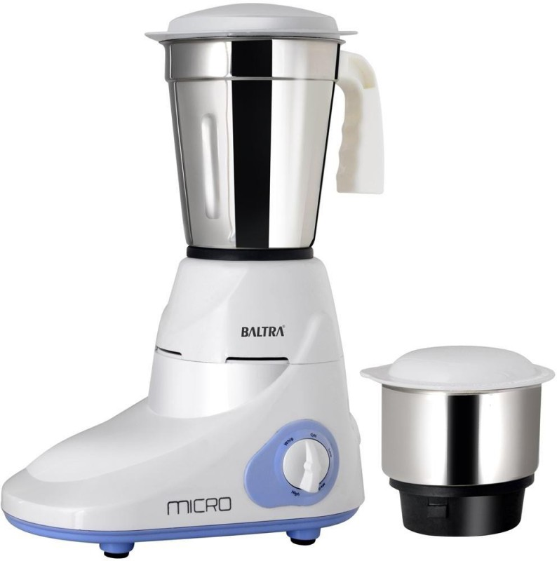 Baltra Micro 400 Mixer Grinder(White, 2 Jars)