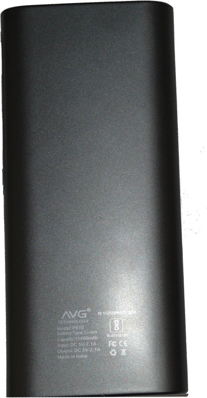 AVG 11400 Power Bank (P910)(Black, Lithium-ion)
