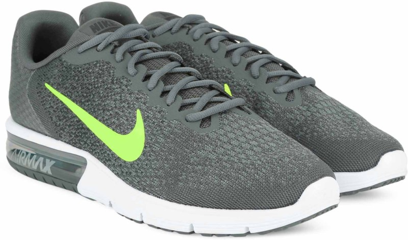 Nike AIR MAX SEQUENT 2 Running Shoes For Men(Grey)