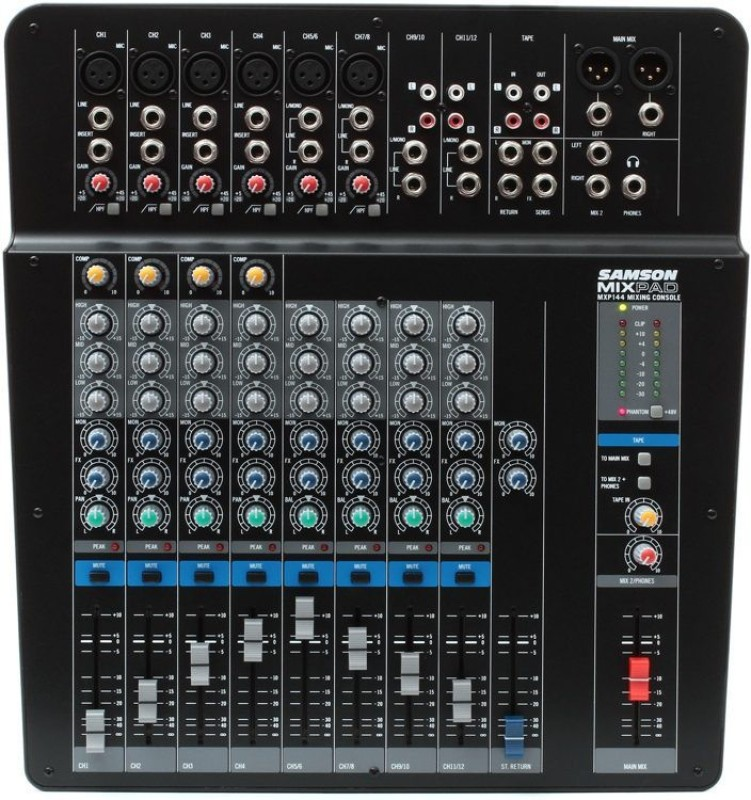 Samson MixPad MXP144 - 14-Input Analog Stereo Mixer Analog Sound Mixer