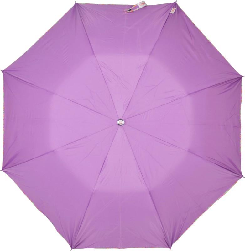 Fendo 2 Fold Purple Color Auto Open Umbrella(Purple)