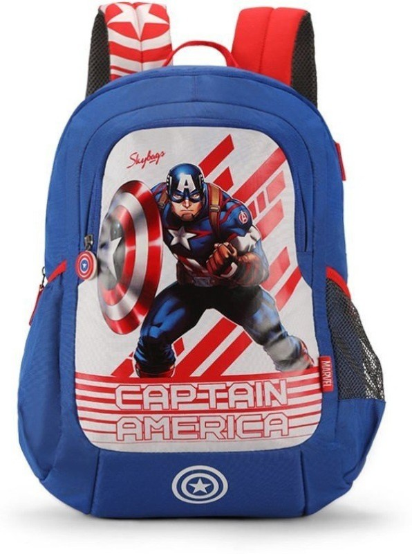 Skybags MARVEL CHAMP 18 L Backpack(Blue)