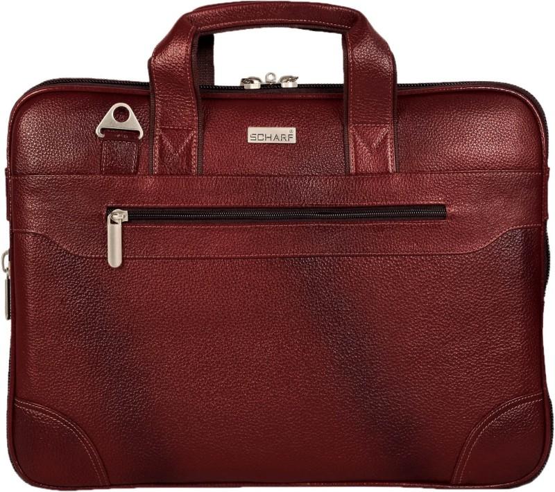 SCHARF briefcase Medium Briefcase - For Men & Women(Brown)