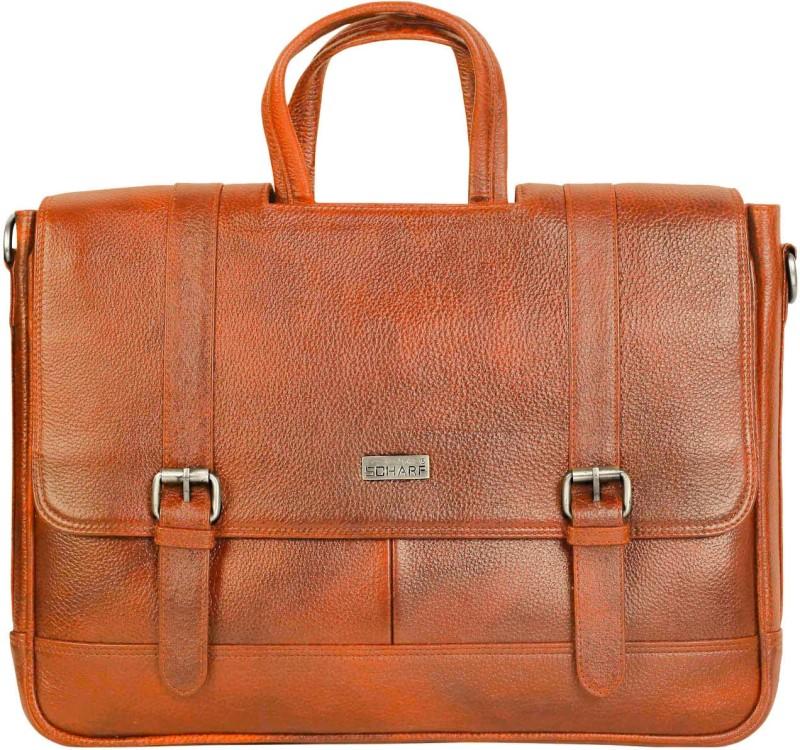 SCHARF briefcase Medium Briefcase - For Men & Women(Tan)