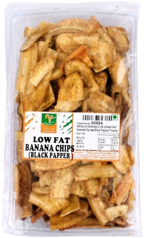 Neelam Foodland LOW FAT BANANA CHIPS BLACK PEPPER Chips(400 g)