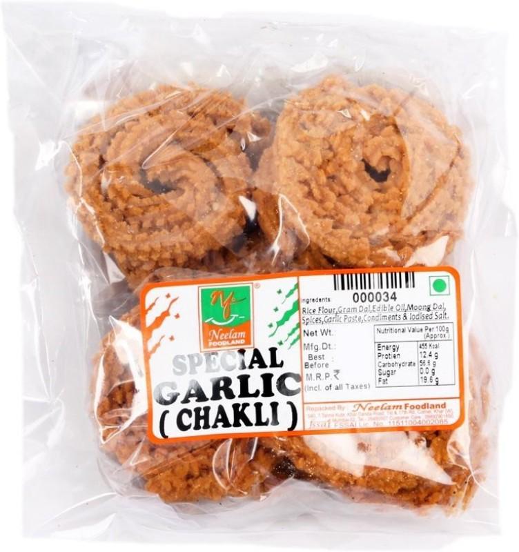 Neelam Foodland Special Garlic Chakli Chips(400 g)