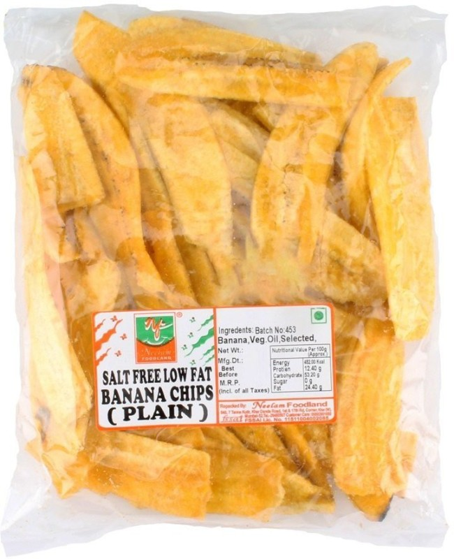 Neelam Foodland LOW FAT SALT FREE BANANA CHIPS (PLAIN) Chips(400 g)