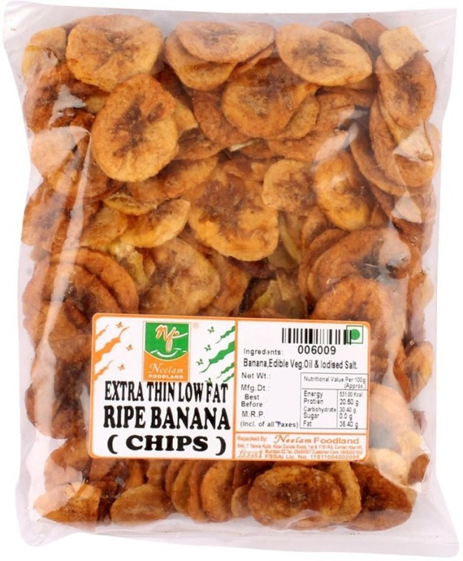 Neelam Foodland EXTRA THIN LOW FAT BANANA CHIPS RIPE BANANA Chips(400 g)