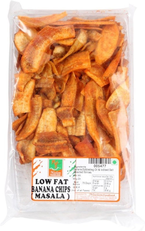Neelam Foodland LOW FAT BANANA CHIPS MASALA Chips(400 g)