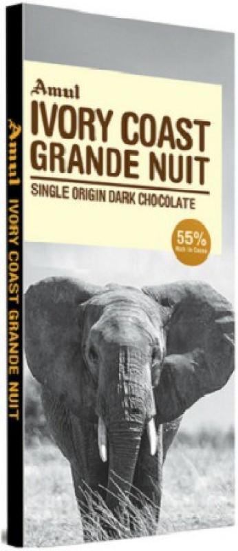 Amul Ivory Coast grande Nuit Chocolate 125gm Bars(125 g)