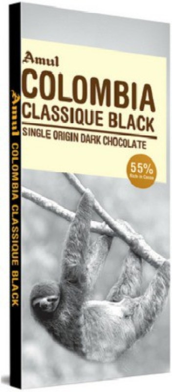 Amul Colombia Classique Black Chocolate 125gm Bars(125 g)