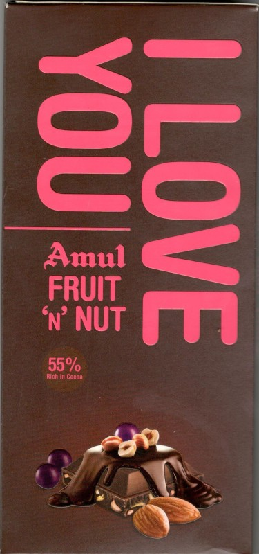 Amul Fruit N Nut Chocolate 150gm Bars(150 g)