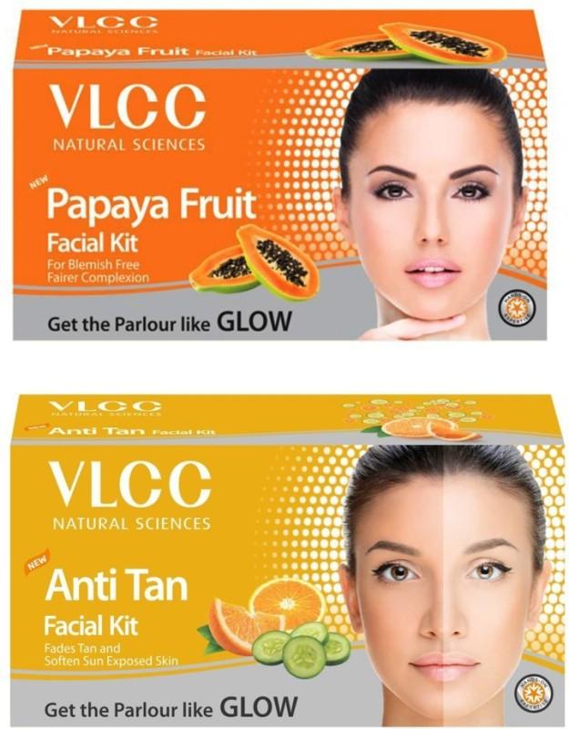 VLCC Original Papaya and Anti-Tan Facial Kit 120 g(Set of 2)