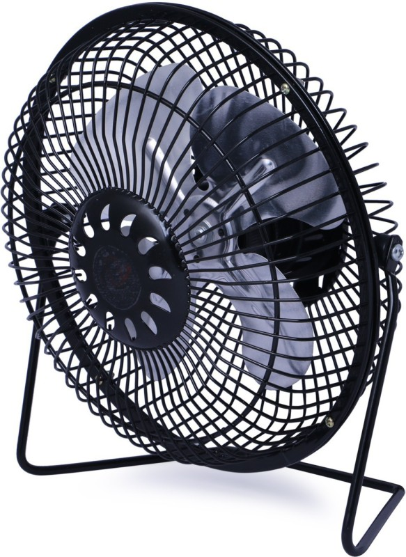 globalurja.com Power Efficient Small Kitchen Cooling Fan Black 4 Blade Table Fan(na)