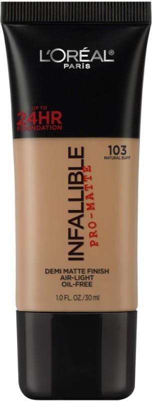 LOreal Paris Infallible Pro-matte Foundation(103 Natural Buff, 30 ml)