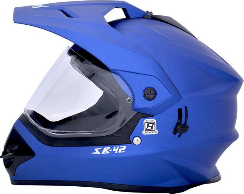 Steelbird Sb-42 Bang Matt Yamaha Blue Motorbike Helmet(Matt Yamaha Blue)