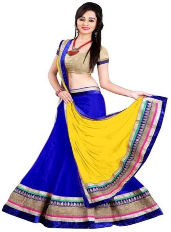 bb1760e557 palkaano Embroidered Semi Stitched Lehenga, Choli and Dupatta  Set(Multicolor)
